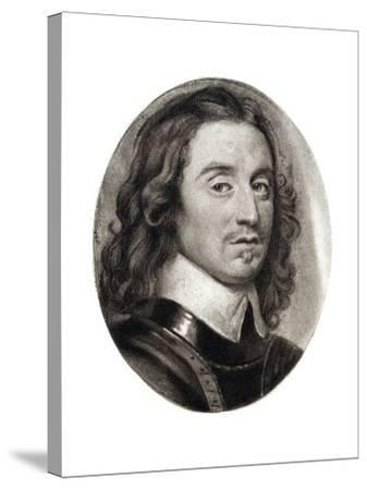 Henry Cromwell, Fourth Son of Oliver Cromwell, 17th Century-Samuel Cooper-Stretched Canvas Print