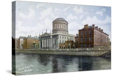 The Four Courts, Dublin, Ireland, C1900s-C1920S--Stretched Canvas Print