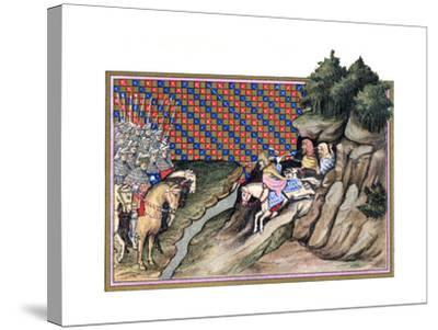 Conference of the Earl of Gloucester and an Irish Chief, Richard Ii's Campagne in Ireland, 1399--Stretched Canvas Print