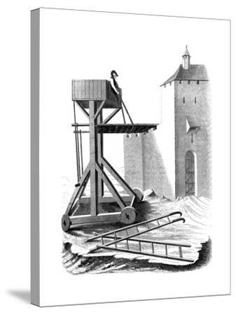 A Siege Assault Platform, 15th Century--Stretched Canvas Print