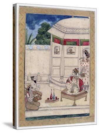 Sri Raga, Ragamala Album, School of Rajasthan, 19th Century--Stretched Canvas Print