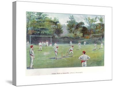 Cricket Field at Bournville, 1892--Stretched Canvas Print