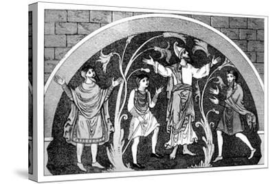 Saxon Dress--Stretched Canvas Print