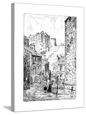 Edinburgh Castle as Seen from the Vennel, 1911-1912--Stretched Canvas Print