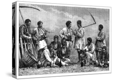 Bulgarian Peasants, C1890--Stretched Canvas Print