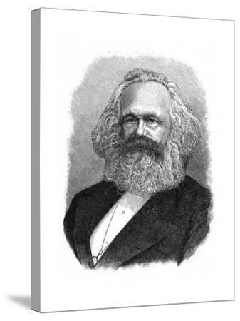 Karl Marx, 19th Century German Political, Social and Economic Theorist--Stretched Canvas Print