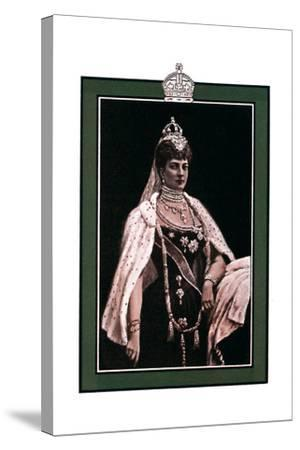Alexandra of Denmark (1844-192), Queen Consort to King Edward VII, 1902-1903-W Waud-Stretched Canvas Print