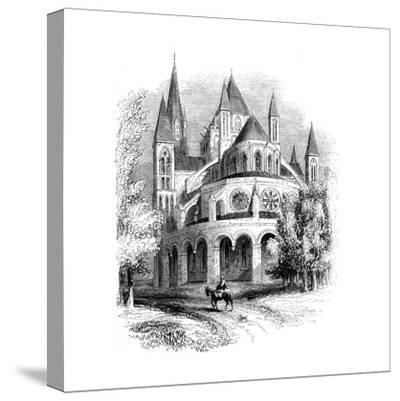 Abbaye Aux Hommes, Caen, Normandy, France--Stretched Canvas Print