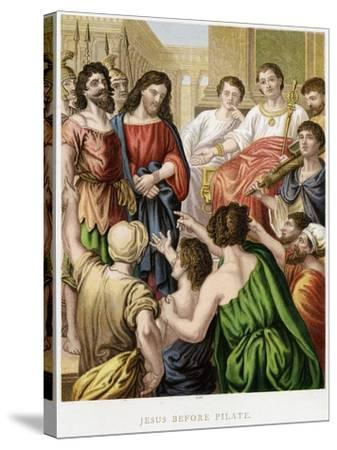 Jesus before Pilate, Mid 19th Century--Stretched Canvas Print