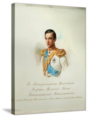 Portrait of Grand Duke Konstantin Nikolaevich of Russia, 1846-1849--Stretched Canvas Print