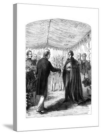 Sir Walter Scott Presenting the Cross of St Andrew to King George IV, 1822--Stretched Canvas Print