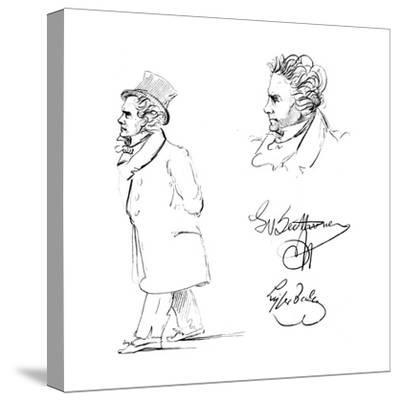 Ludwig Van Beethoven (1770-182), German Composer--Stretched Canvas Print
