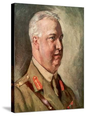 Sir Arthur William Currie, Canadian First World War General--Stretched Canvas Print