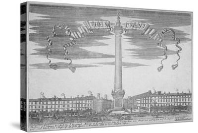The Monument, City of London, 1700--Stretched Canvas Print