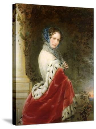 Portrait of Empress Alexandra Fyodorovna (Charlotte of Prussi), Emperor's Nicholas I Wife-Christina Robertson-Stretched Canvas Print