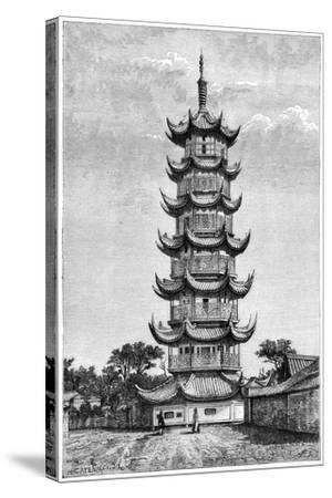 The Tower of Long-Hua, Shanghai, China, 1895--Stretched Canvas Print