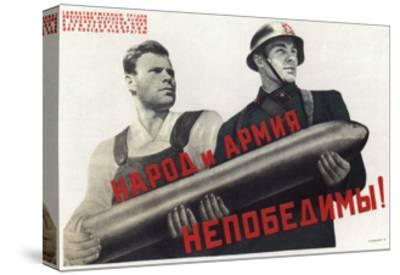 The People and the Army are Invincible!, 1941-Viktor Borisovich Koretsky-Stretched Canvas Print
