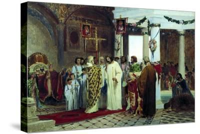 The Baptism of Grand Prince of Kiev Vladimir the Great in 987, 1883-Feodor Andreyevich Bronnikov-Stretched Canvas Print
