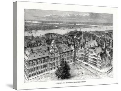 Town Hall and River Schelde, Antwerp, Belgium, 1879-Taylor-Stretched Canvas Print