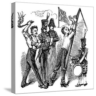 British Military Discipline, 19th Century--Stretched Canvas Print