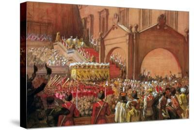 Emperor Nicholas II on the Red Porch after His Coronation, 1896-Albert Gustaf Aristides Edelfelt-Stretched Canvas Print
