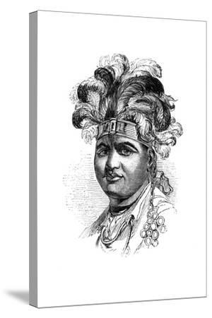 Thayendaneega, a Mohawk Chief, 1848--Stretched Canvas Print