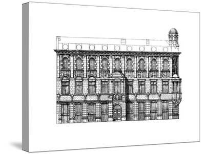 Elevation of the Institute of Chartered Accountants, 1895-John Belcher-Stretched Canvas Print