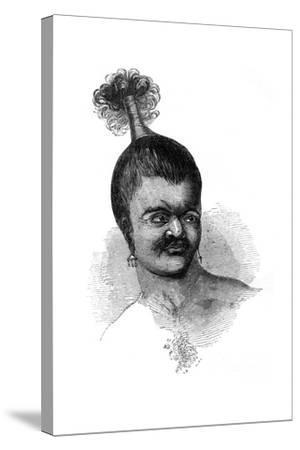 A Native of Omdai Island, 1848--Stretched Canvas Print