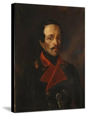 Portrait of the Poet Mikhail Lermontov (1814-184), 1854-1858-Nikolay Ivanovich Polivanov-Stretched Canvas Print
