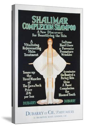 Advertisement for Shalimar Complexion Shampoo by Dubarry, 1930--Stretched Canvas Print