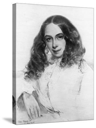 Elizabeth Barrett Browning, British Poet, 1859-Field Talfourd-Stretched Canvas Print