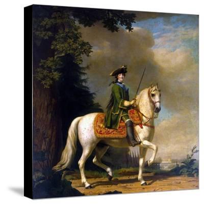 Equestrian Portrait of Empress Catherine II, (1729-179), after 1762-Vigilius Erichsen-Stretched Canvas Print