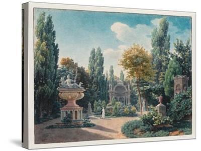 Monument of Diane De Poitiers in the Jardin Du Cloître Des Petits-Augustins, 1815-Jean-Lubin Vauzelle-Stretched Canvas Print