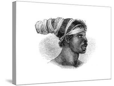A Native Australian, 1848--Stretched Canvas Print