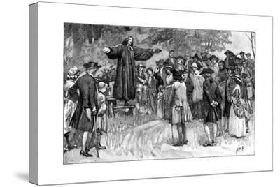George Whitefield Preaching in the Open Air C1870--Stretched Canvas Print