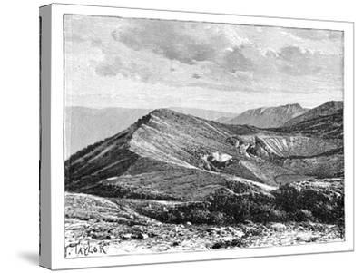 Summit of Mount Irazu, Costa Rica, C1890--Stretched Canvas Print