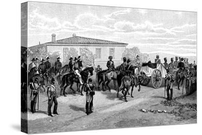 The Burial of Lord Raglan Near Sevasopol, 1855-William Simpson-Stretched Canvas Print