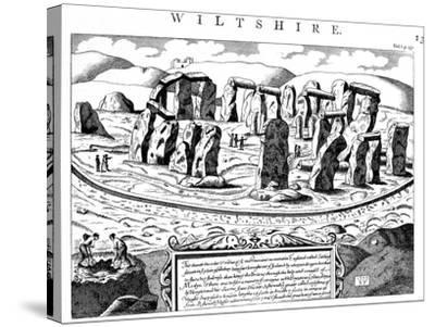 Stonehenge, Wiltshire, 18th Century--Stretched Canvas Print