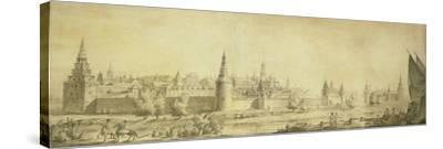 Panoramic View of Moscow Kremlin by the End of the 18th Century, End 1790s-Giacomo Antonio Domenico Quarenghi-Stretched Canvas Print