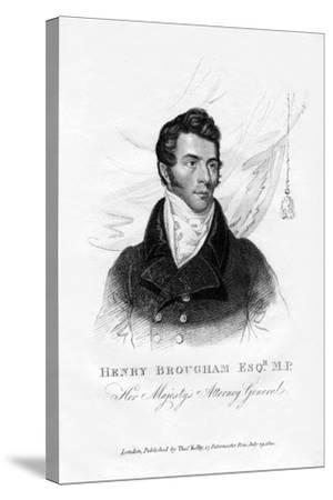 Henry Brougham, Attorney General, 1820--Stretched Canvas Print