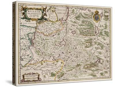 Map of Western Russia (From: Partes Septentrionalis Et Orientali), 1664-Isaac Abrahamsz Massa-Stretched Canvas Print