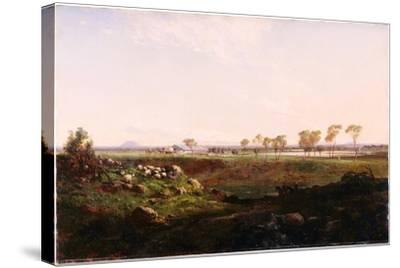 Mount Fyans Woolshed (The Woolshed Near Camperdow), 1869-Louis Buvelot-Stretched Canvas Print