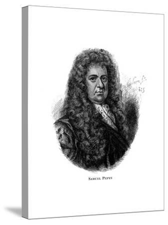 Samuel Pepys, English Diarist--Stretched Canvas Print