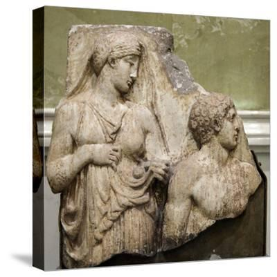 Heracles in the Garden of the Hesperides, Fragment of a Relief, Early 2nd Century--Stretched Canvas Print