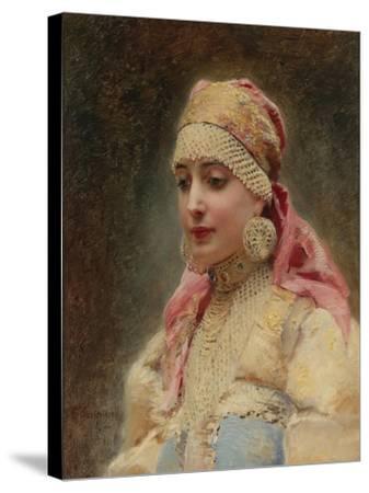 Boyar's Wife-Konstantin Yegorovich Makovsky-Stretched Canvas Print