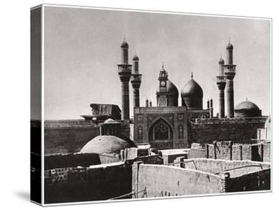 The Golden Domes and Minarets of the Al-Kadhimiya Mosque, Baghdad, Iraq, 1925-A Kerim-Stretched Canvas Print