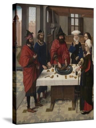 The Last Supper Altarpiece: Passover Seder (Left Wing), 1464-1468-Dirk Bouts-Stretched Canvas Print