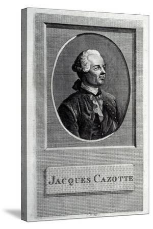 Portrait of the Author Jacques Cazotte (1720-179)--Stretched Canvas Print