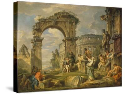 Cumaean Sibyl Prophesied the Birth of Christ, 1743-Giovanni Paolo Panini-Stretched Canvas Print