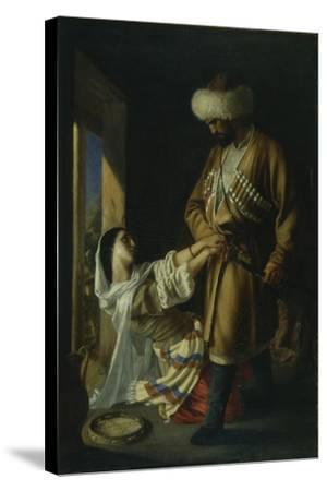 Leila and Khadji Abrek (After the Poem by M. Lermonto), 1852-Nikolai Nikolayevich Ge-Stretched Canvas Print